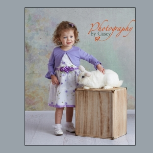 Spring photography with children and bunnies