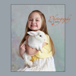 Easter bunny photography
