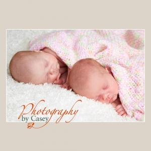 Sleeping Newborn Twins Photography