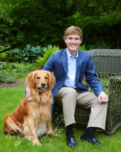 High School Senior Photography with Pet Dogs
