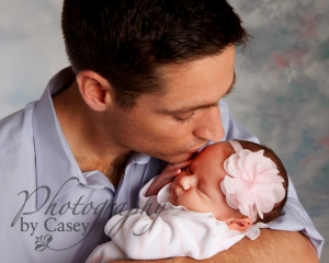 Daddy and Newborn Photography