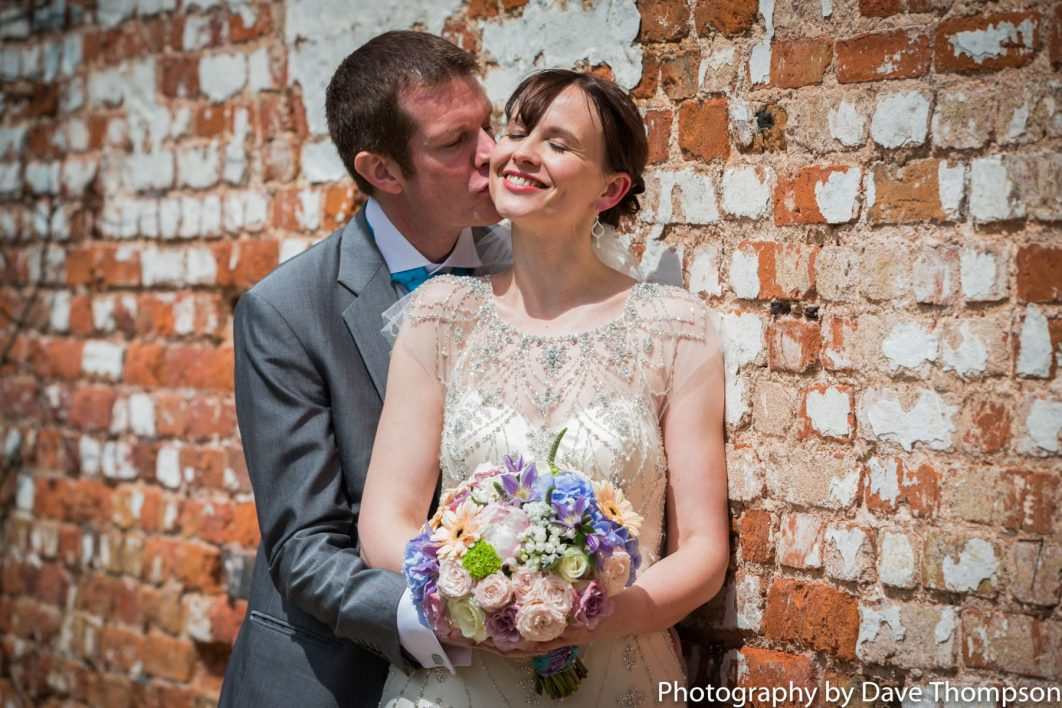 Bride and groom in the walled gardens