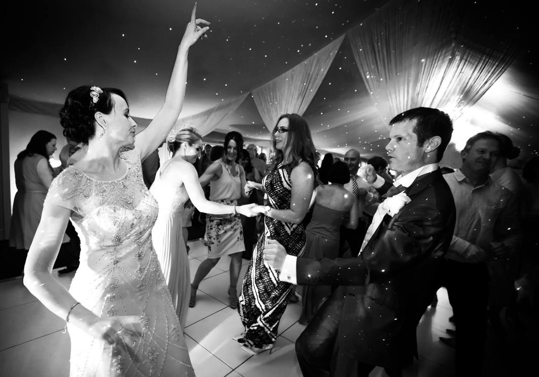 The bride and groom during their first dance following their wedding at Combermere Abbey