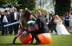 Space hopper jousting - The brilliant entertainment idea by Karen.