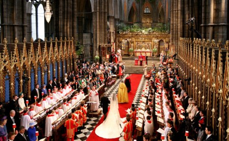 Photograph from the Royal Wedding of William and Kate at Westminster Abbey