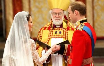 Prince William and Kate Middleton take their vows.