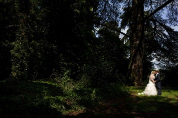 Wedding photograph in the woods
