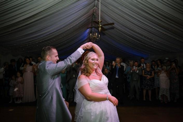 Frist dance photograph at Heaton House Farm