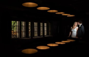 Bride and groom with leading lights