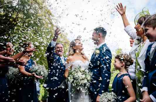 Confetti for the bride and groom