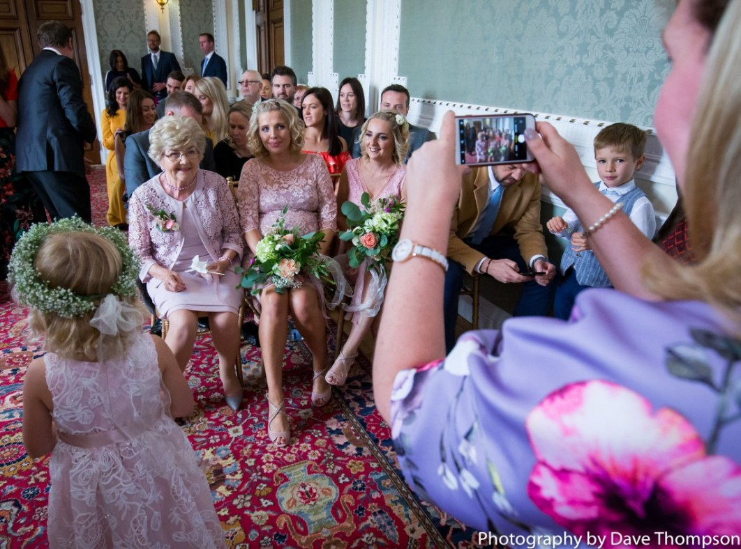 Guests taking photographs