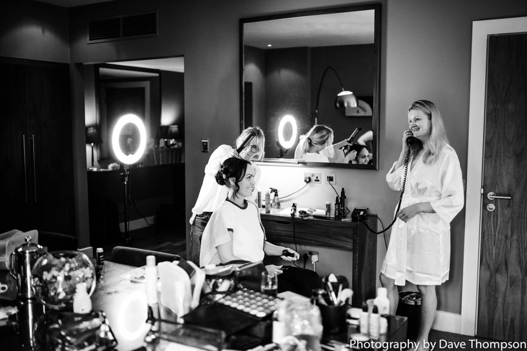 Bridal prep at The Mere resort
