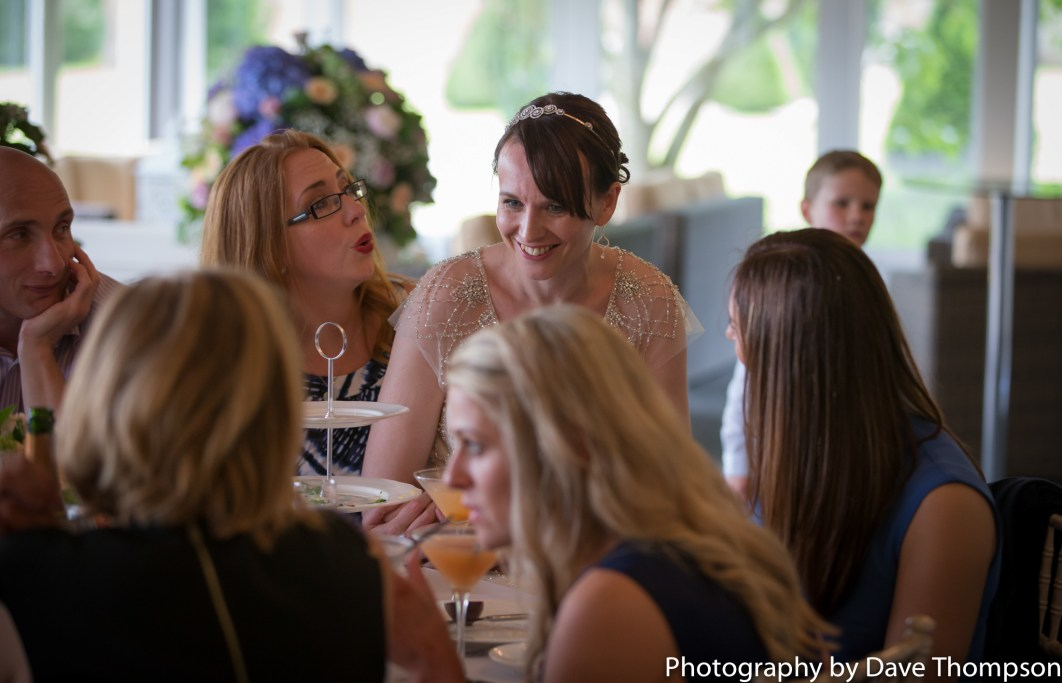 The bride with guests