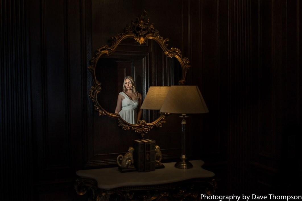 Bridal portrait at Eaves Hall
