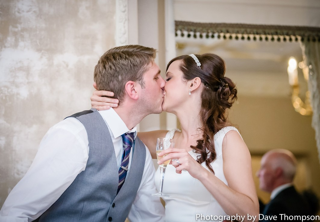 A kiss during the speeches