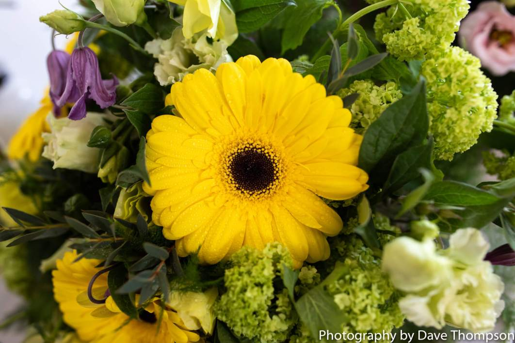 Bridal Bouquet made up of sunflowers