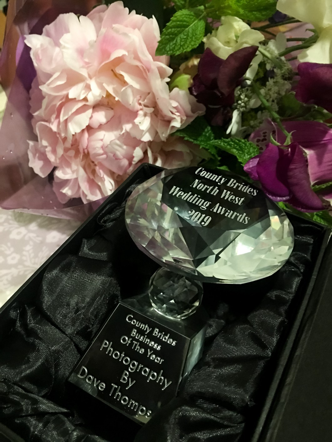 North West Wedding Awards Business of the Year 2019 award