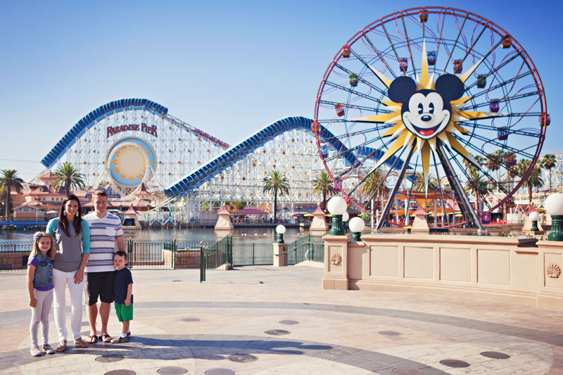 Theme Park Vacation Photographer Family Session At Ca