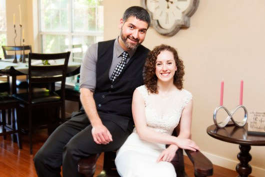 A portrait of the happily married couple.