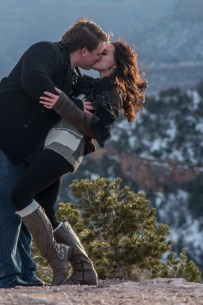 The kiss and dip photo at the South Rim