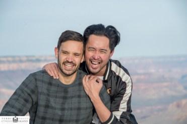 couples portraits at Grand Canyon