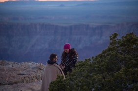 Just before sunrise he popped the question at the South Rim