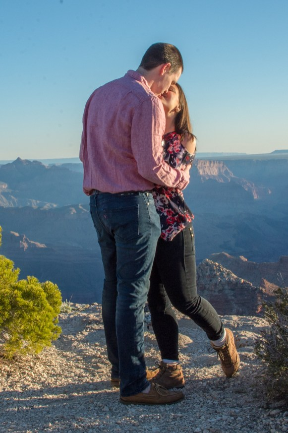 Kiss on the Edge of Grand Canyon