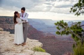 7.27.17 Kathleen and Gabriel Yavapai Point and Duck on a Rock Rock Grand Canyon South Rim Monsoon Season photography by Terri Attridge-170