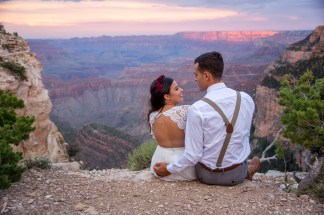 7.27.17 Kathleen and Gabriel Yavapai Point and Duck on a Rock Rock Grand Canyon South Rim Monsoon Season photography by Terri Attridge-51