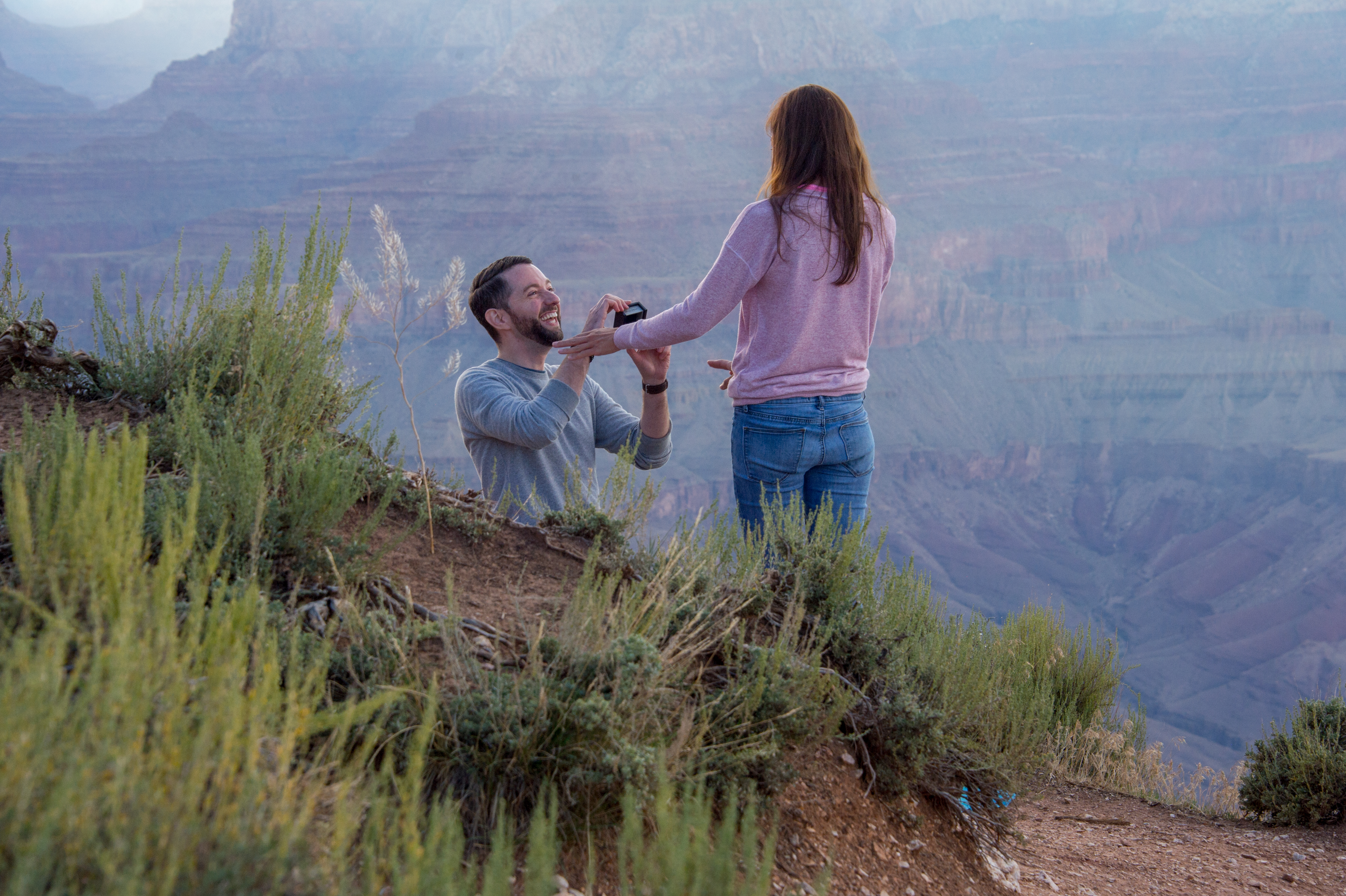 Engagement proposal at the South Rim