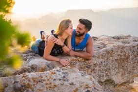 Newly engaged photos at Grand Canyon