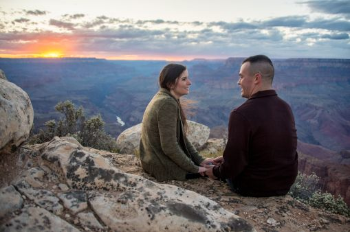 On the edge of the Grand Canyon portraits