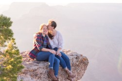Proposal portraits for these two ladies on the edge of Grand Canyon