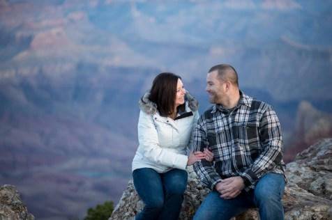 happy to be engaged at Grand Canyon