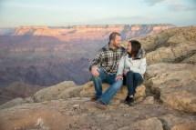 Sunrise Engagement shot at Grand Canyon