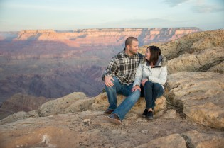 Sunrise Engagement shot at Grand Canyon