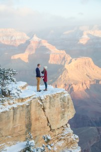 On the edge of Grand Canyon Engagement