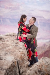 Engagement photo session at Grand Canyon