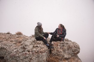 Snowy Grand Canyon Engagement