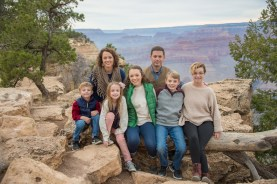 canyonFamily on cloudy day at Grand