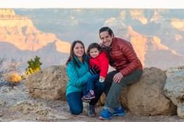 Small family photo at Grand Canyon