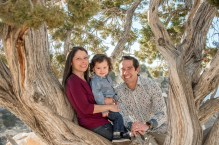 family in a juniper tree at Grand Canyon