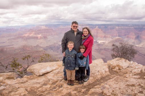 Family portraits at Grand Canyon