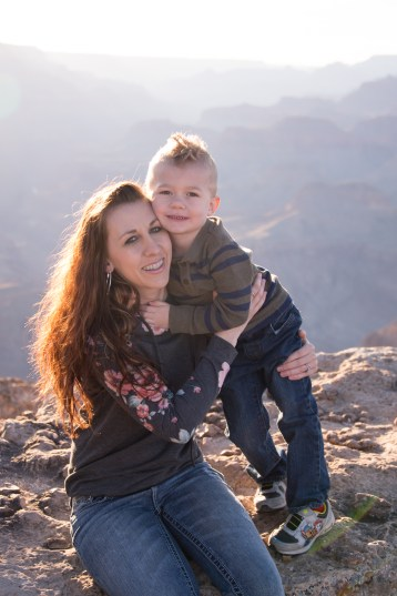 Mommy and me photo at the South Rim