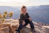 Stetsen strikes a pose at Grand Canyon