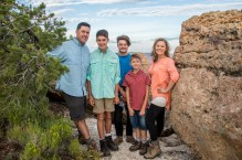 Grand Canyon family photo Lipan Point
