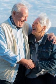 Grandma and grandpa still in love at Grand Canyon