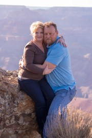 coupled embrace grand canyon background