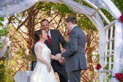 Laughing it up at the alter - almost married