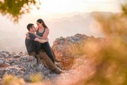 Engagement photo at Grand Canyon